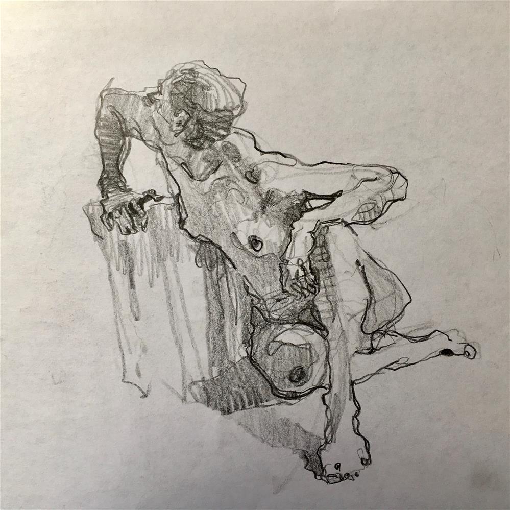 """Figure51 (double-sided)"" original fine art by Katya Minkina"