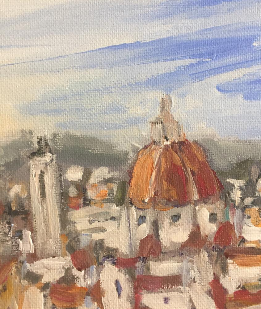 """Florence Panoramic View"" original fine art by Alina Vidulescu"