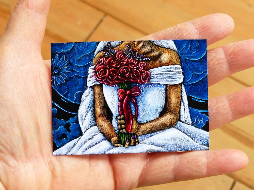 """June Bride"" original fine art by Monique Morin Matson"