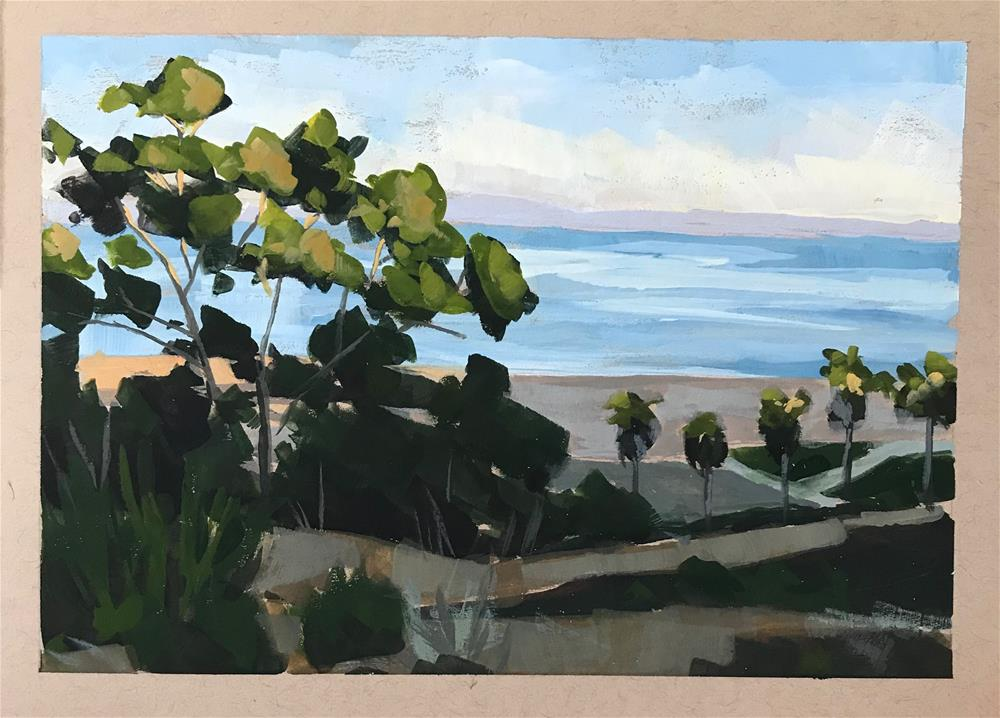 """View from SBCC"" original fine art by Sharon Schock"