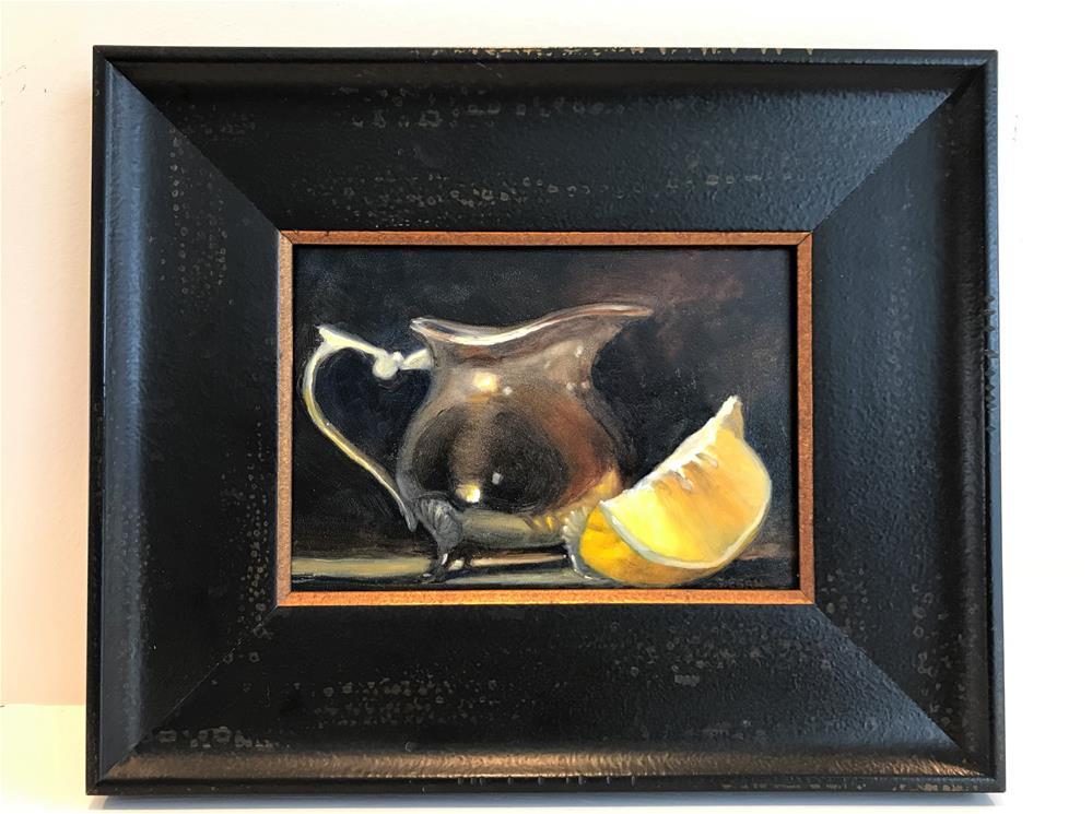 """Cream and Lemon"" original fine art by Sharon Egan"