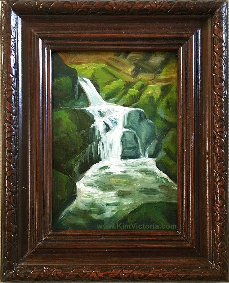 """Fairy Glen Waterfall #1"" original fine art by Kim Victoria"