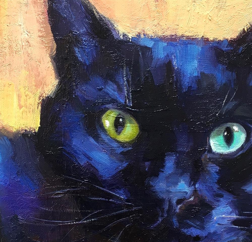 """Blackcat32"" original fine art by Katya Minkina"