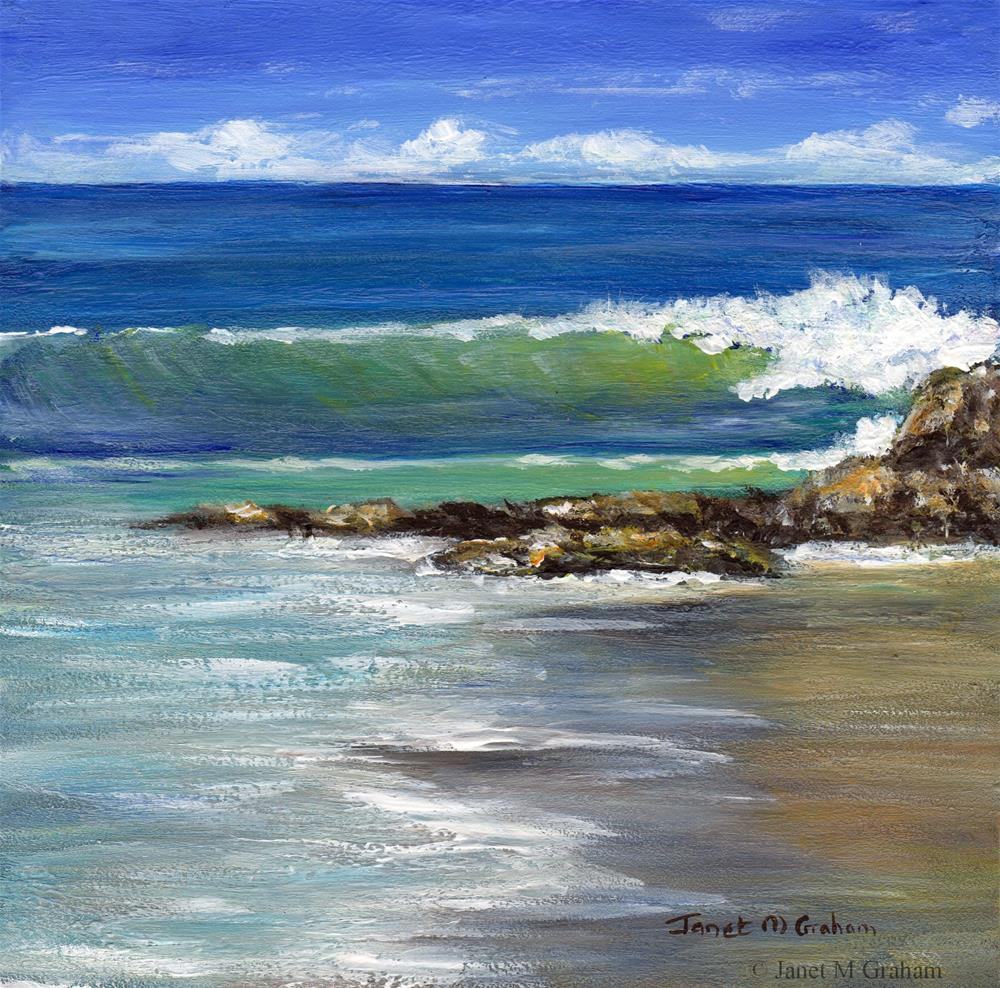 """Kirra Beach No 4"" original fine art by Janet Graham"
