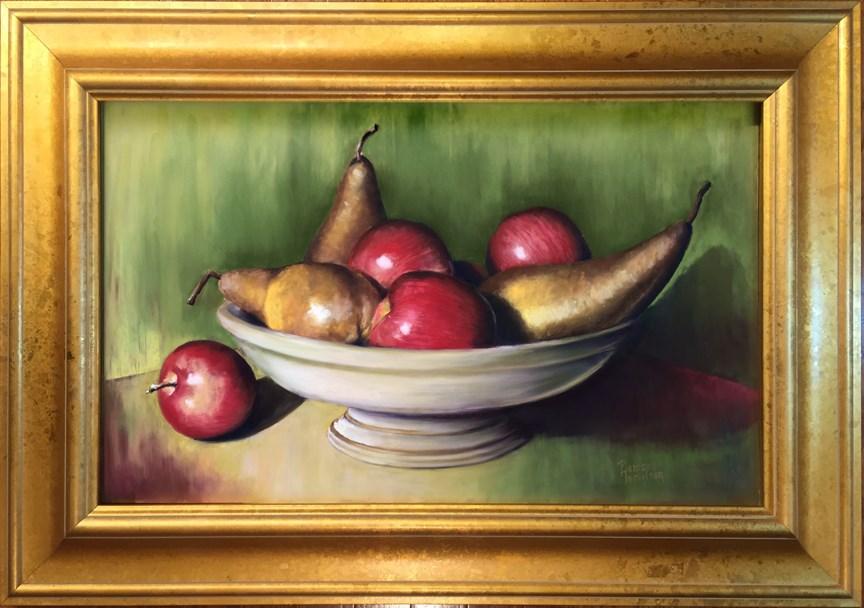 """Bosc Pears and Apples"" original fine art by Pamela Hamilton"