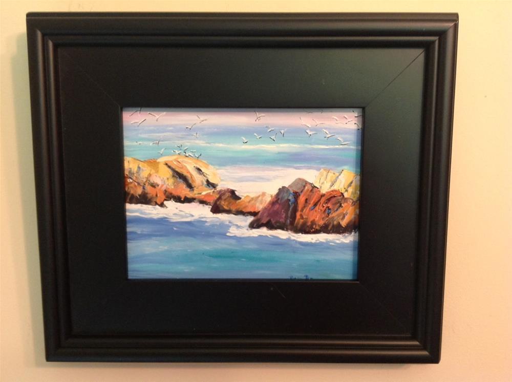 """Oregon Beach"" original fine art by Rose Brenner"