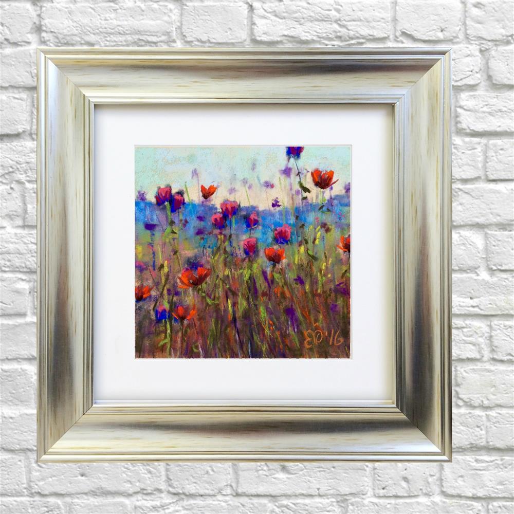 """""""Flower Field"""" original fine art by Elcin Ozcan"""