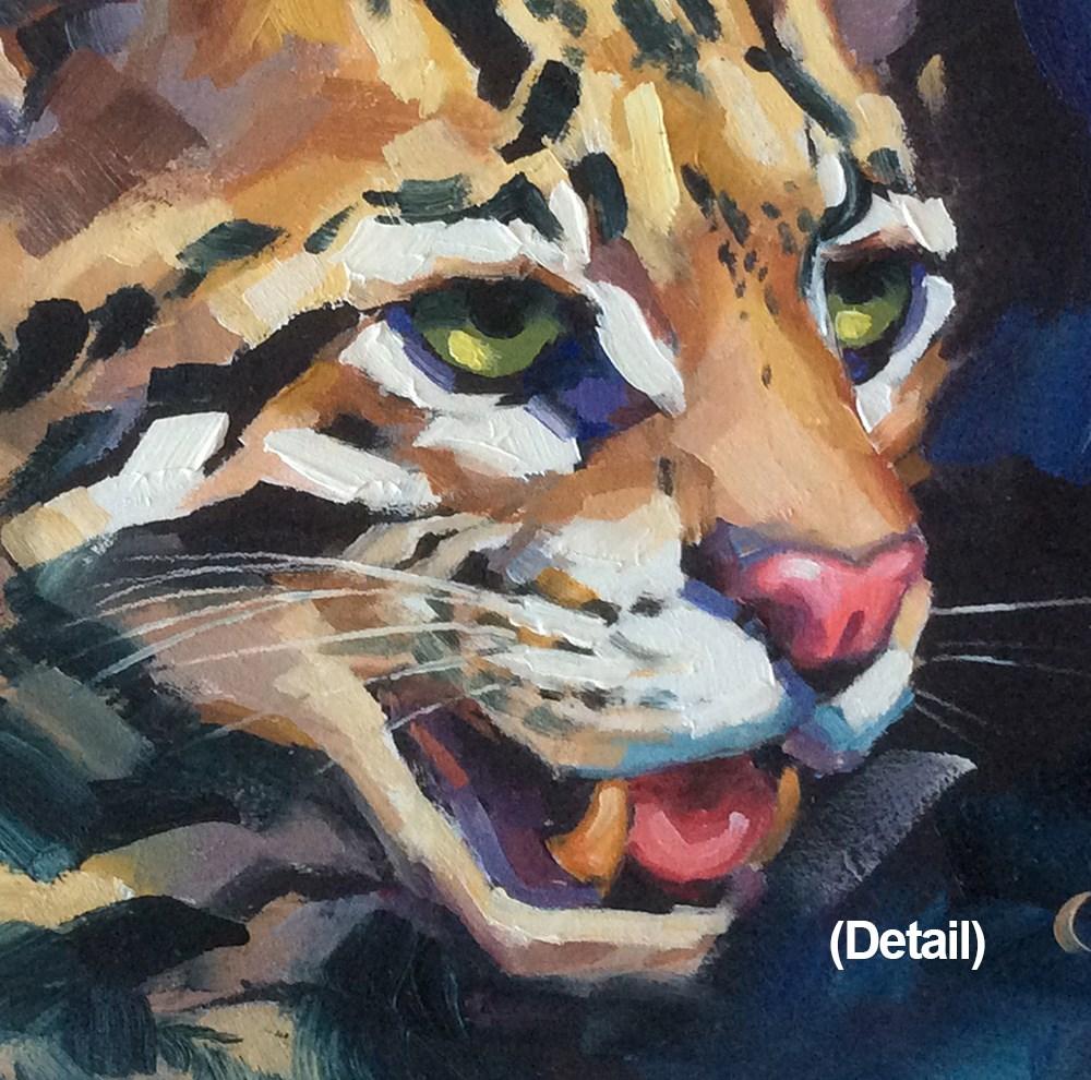 """OCELOT"" original fine art by Tom Brown"