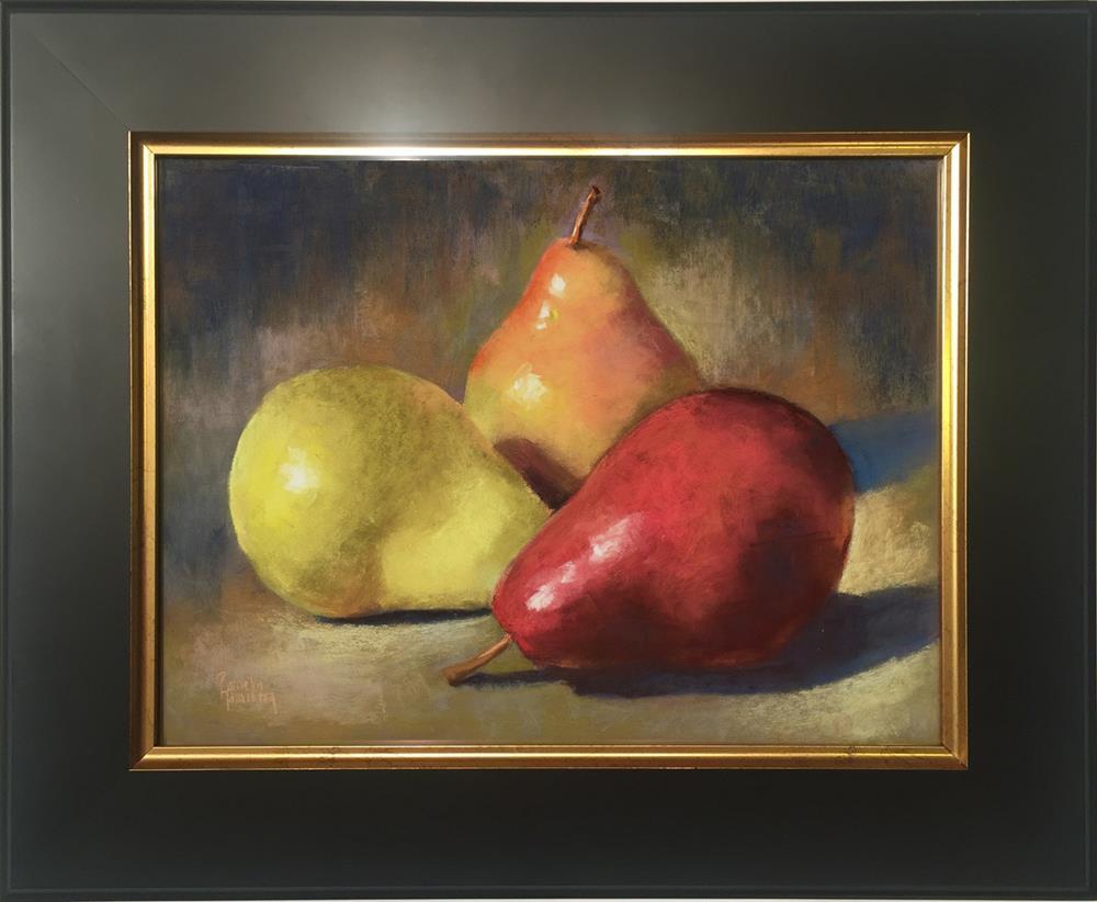 """Pear Trio"" original fine art by Pamela Hamilton"