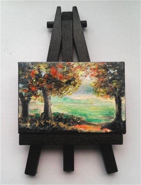 """Fall Trees Landscape"" original fine art by Camille Morgan"