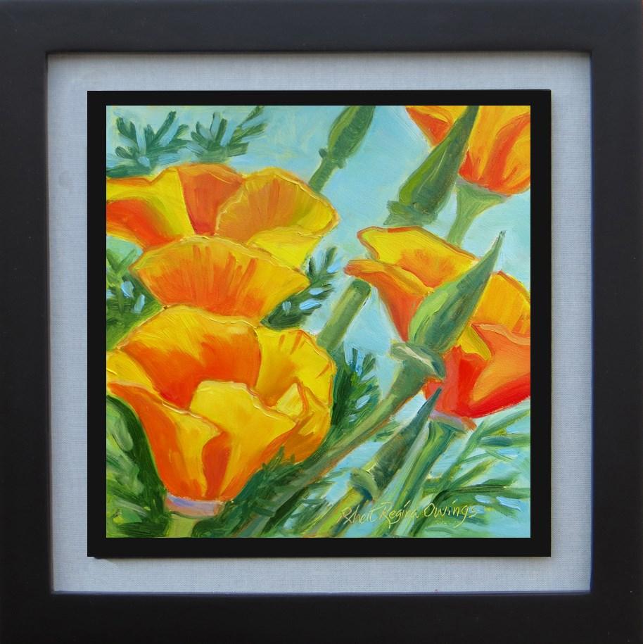"""Spring Poppies"" original fine art by Rhett Regina Owings"