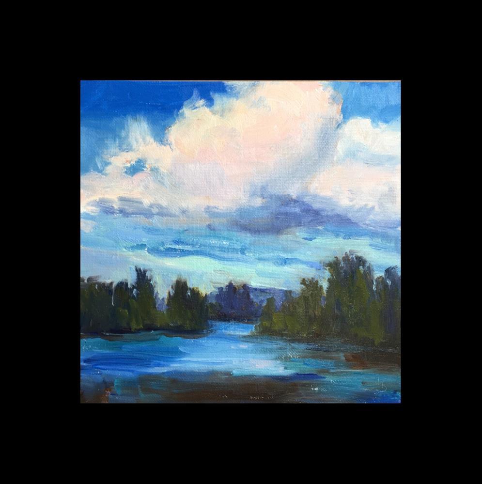 """A Walk by the River"" original fine art by Victoria  Biedron"
