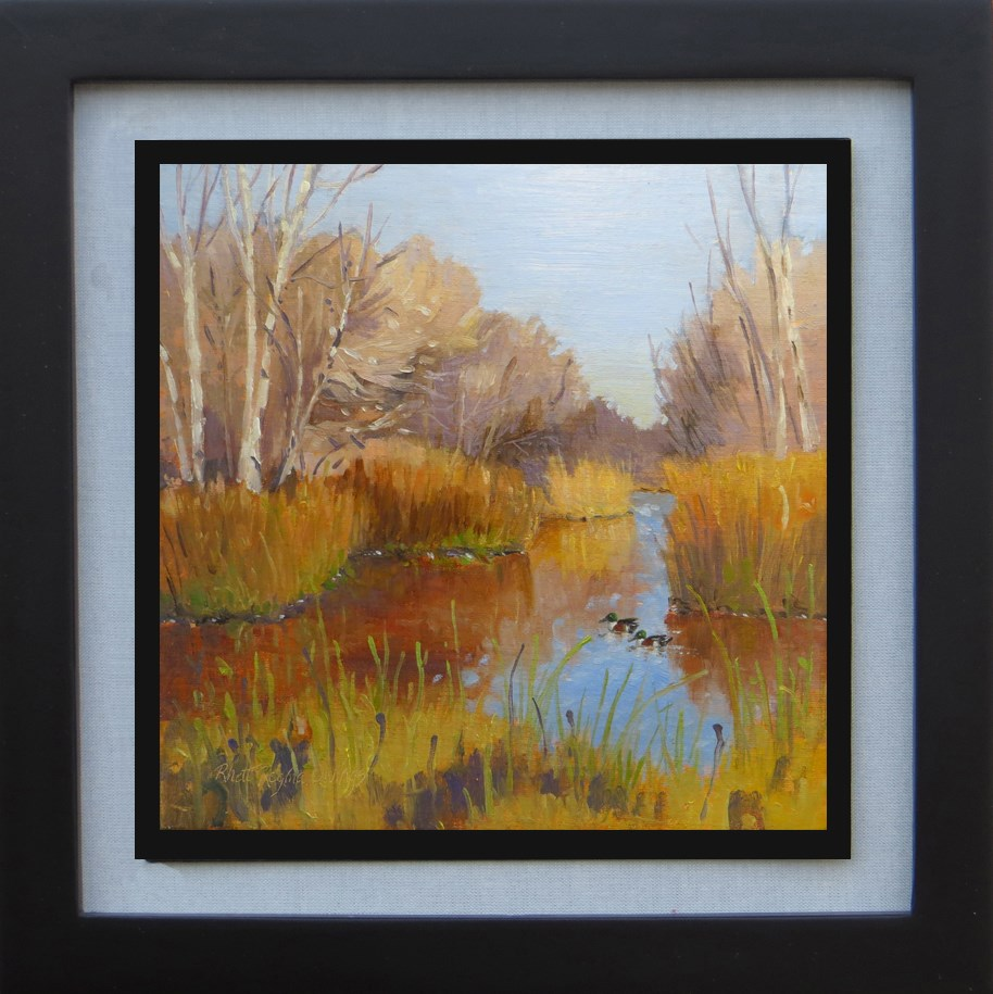 """Winter at San Luis Game Refuge"" original fine art by Rhett Regina Owings"