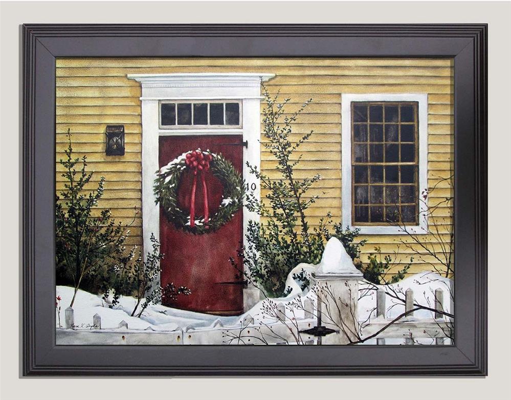 """Holiday Greetings"" original fine art by Kara K. Bigda"