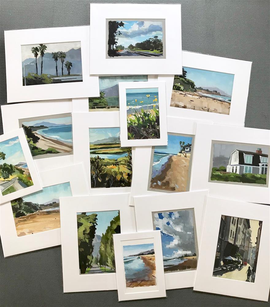 """""""Beach Cliffs at Sunrise"""" original fine art by Sharon Schock"""