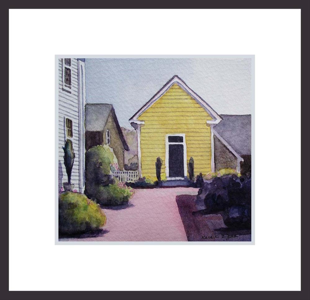 """Little Yellow House"" original fine art by Kara K. Bigda"