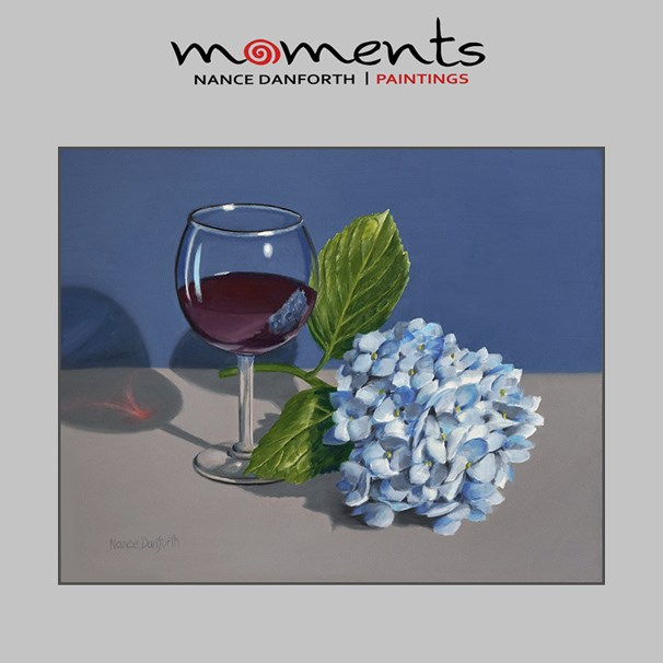 """Hydrangea and Red Wine"" original fine art by Nance Danforth"