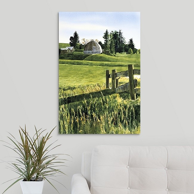 """""""Country Round Barn (prints available)"""" original fine art by Andy Sewell"""