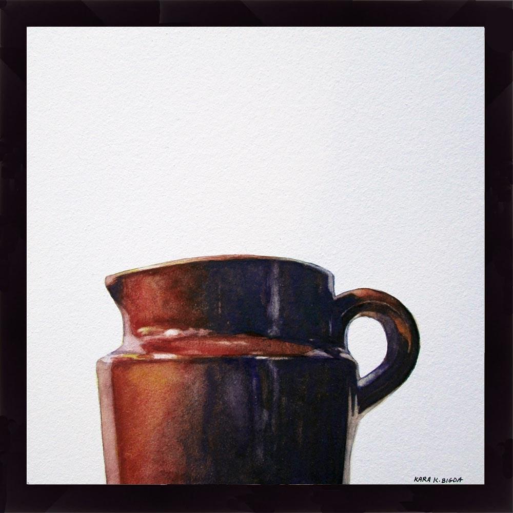 """Brimfield Mini-Pitcher"" original fine art by Kara K. Bigda"