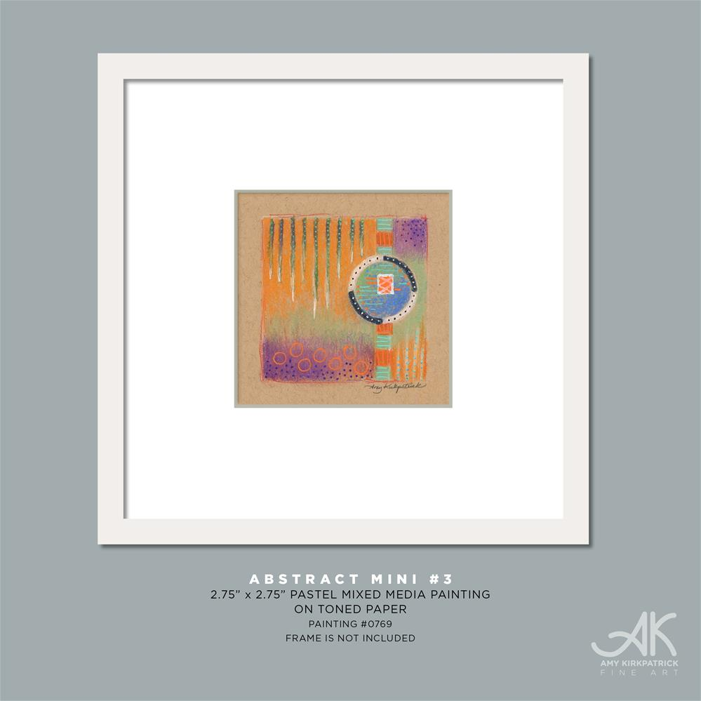 """ABSTRACT MINI 3 (0769)"" original fine art by Amy Kirkpatrick"