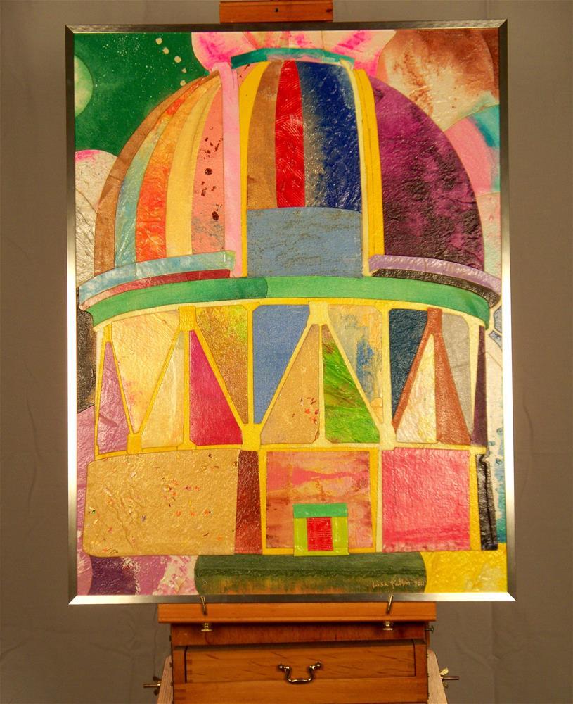 """Observatory at Cerro Tololo"" original fine art by Lisa Fulton"