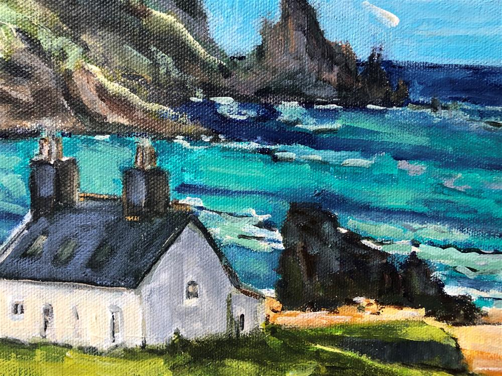 """Cottage with a View"" original fine art by Alina Vidulescu"