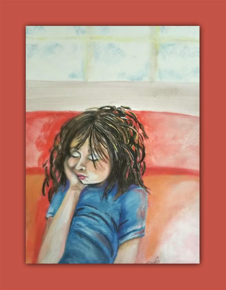 """Sacked Out"" original fine art by Dana C"