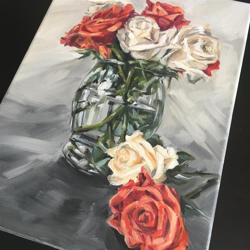 """Cream and Copper (142)"" original fine art by Tamanda Elia"