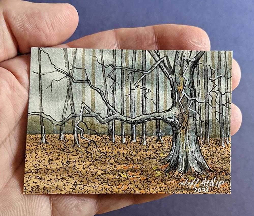 """ACEO Edge Of The Woods"" original fine art by Jeff Atnip"
