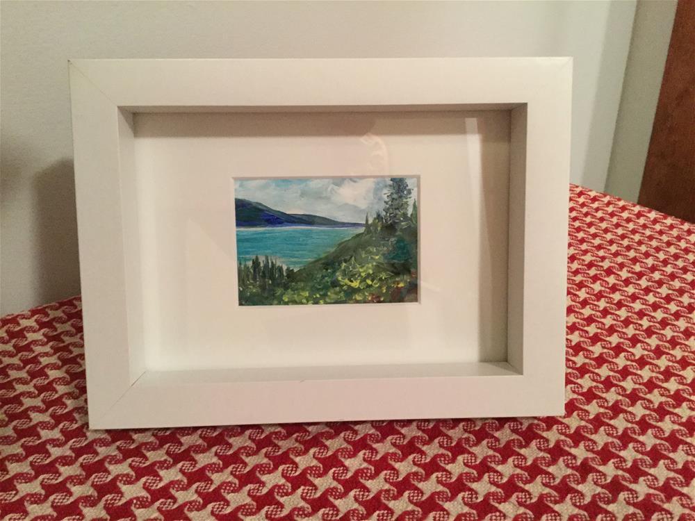 """6092 - Framed - OKANAGAN LOOKOUT ACEO"" original fine art by Sea Dean"