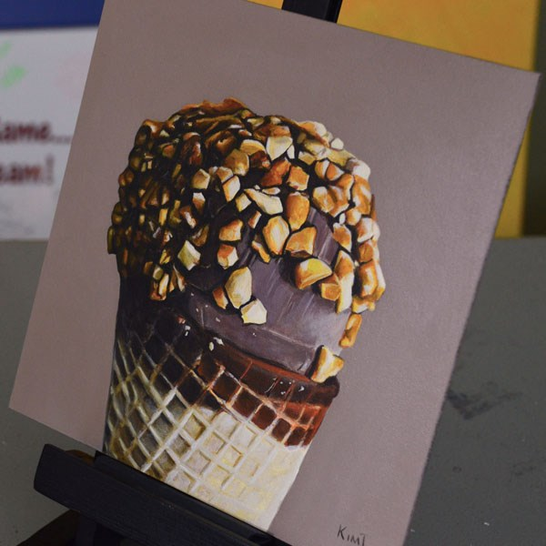 """Nutty Buddy"" original fine art by Kim Testone"