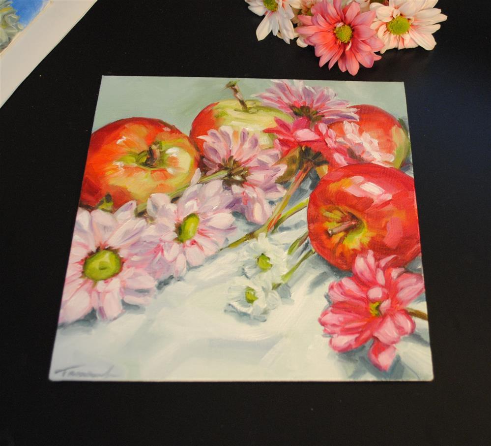 """Red and Pink"" original fine art by Tamanda Elia"
