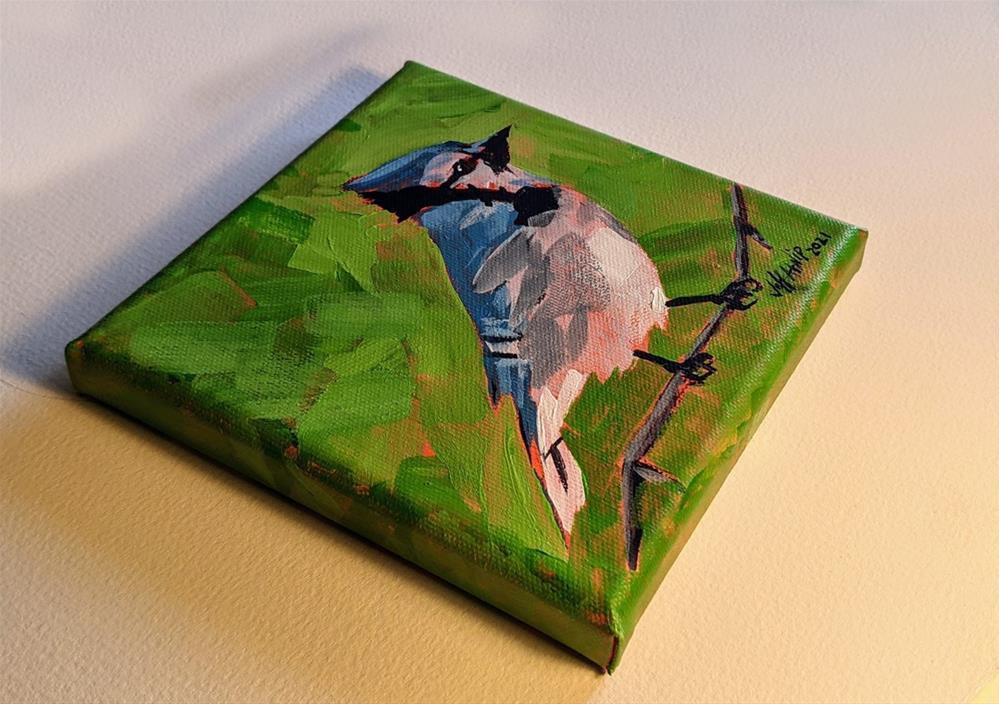"""Dudley The Bluejay"" original fine art by Jeff Atnip"