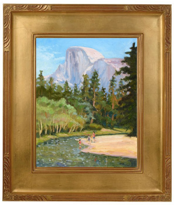 """Fun Under Half Dome"" original fine art by Rhett Regina Owings"