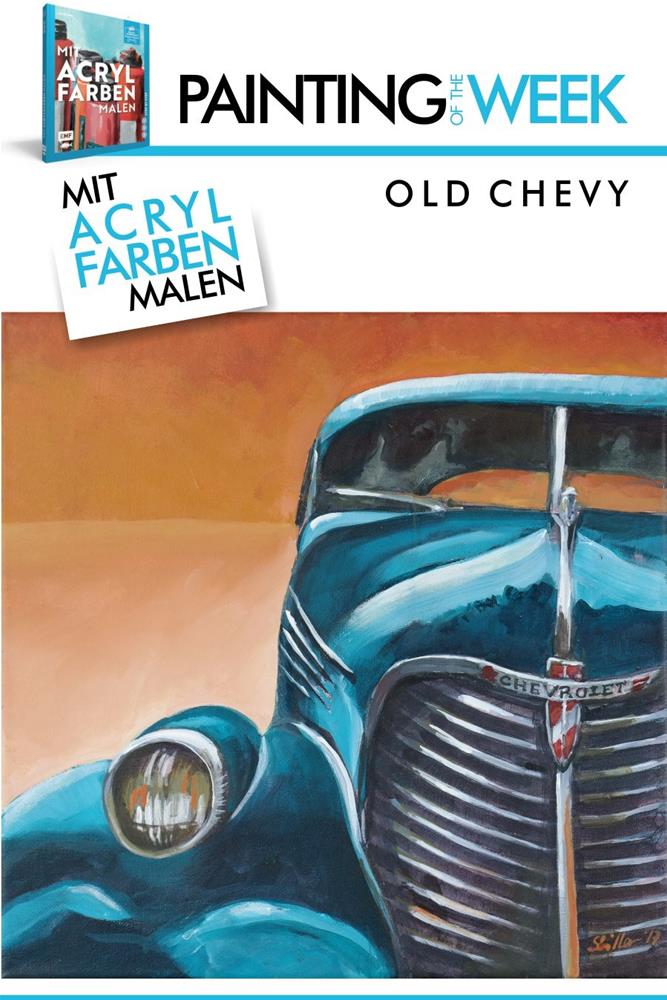 """2287 Old Chevy (Painting of the Week #22)"" original fine art by Dietmar Stiller"