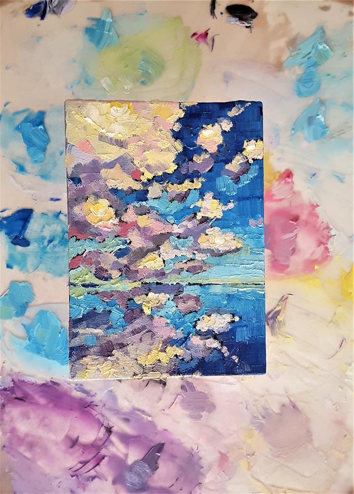 """Clouds Over the Ocean"" original fine art by Bhavna Misra"