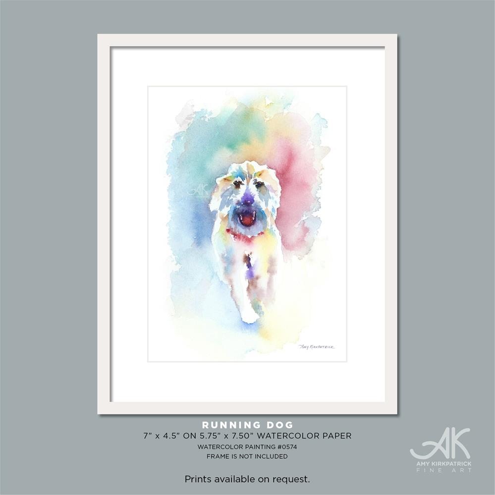 """RUNNING DOG #0574"" original fine art by Amy Kirkpatrick"