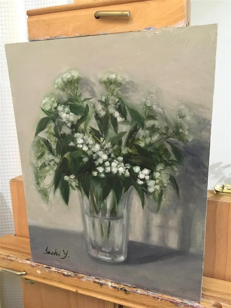 """Flower with no name "" original fine art by Sachi Yoshimoto"