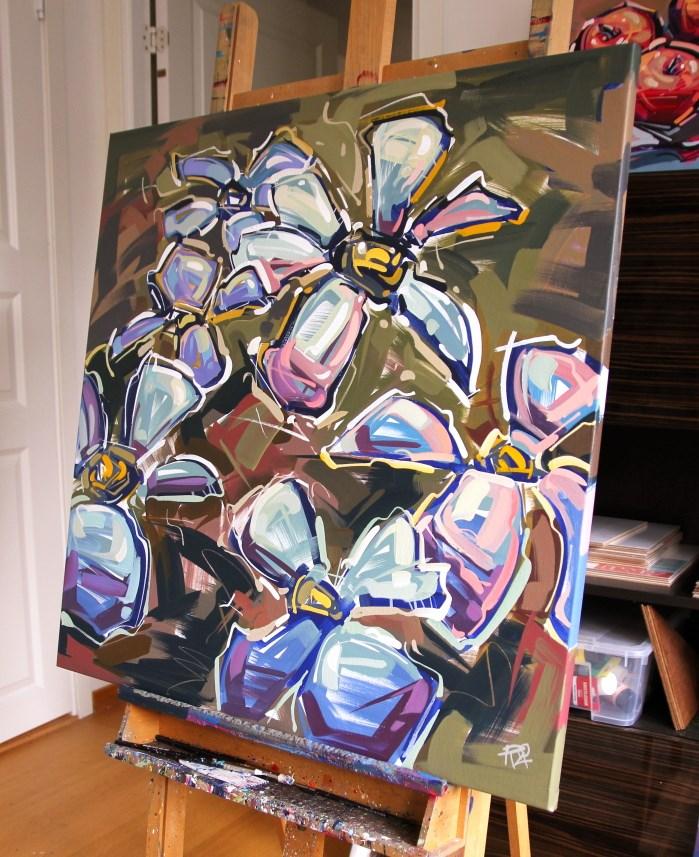 """Flower Exploration 12"" original fine art by Roger Akesson"