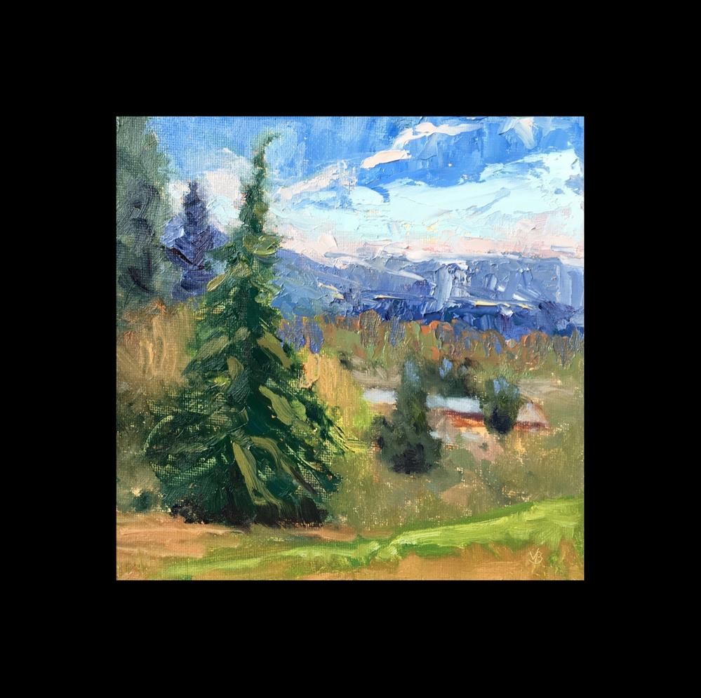"""""""View from Skinners Butte"""" original fine art by Victoria  Biedron"""