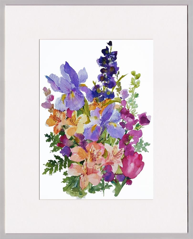"""A Spring Bouquet"" original fine art by Linda Henry"