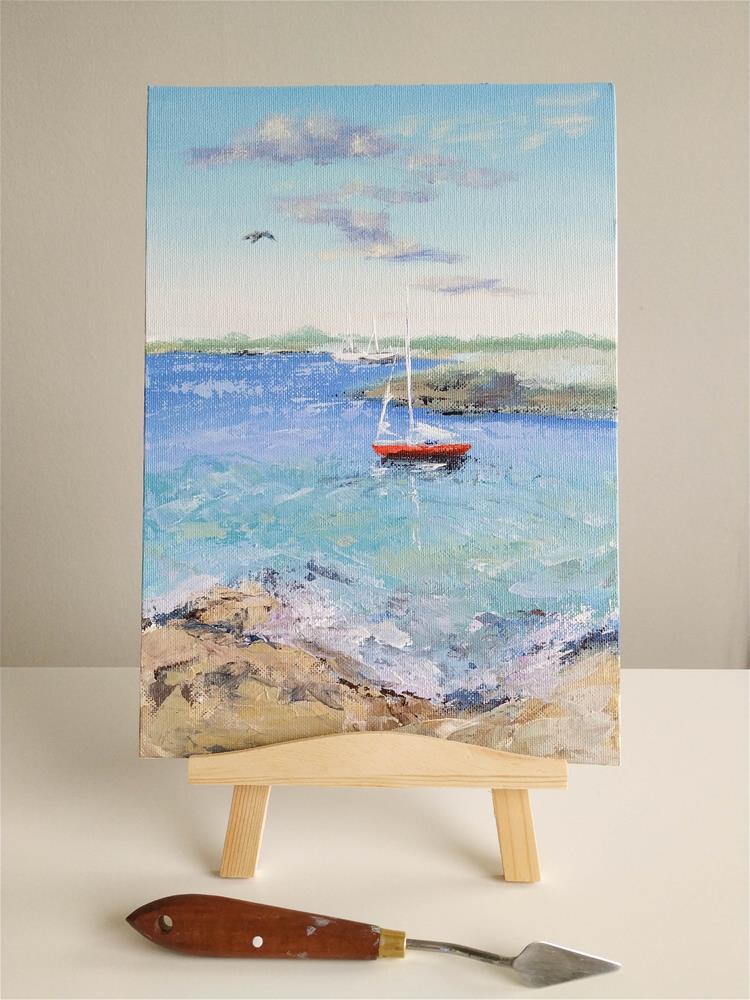 """""""Gentle Wind"""" original fine art by Iryna Khort"""
