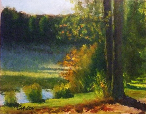 """""""Lakeside, early morning - 3 months later"""" original fine art by Michael Sason"""