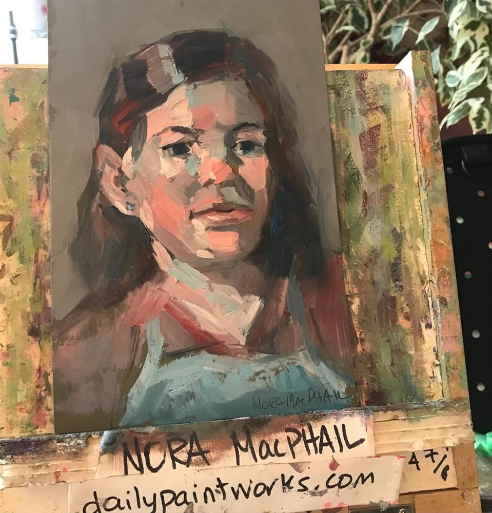 """the artist's apron"" original fine art by Nora MacPhail"