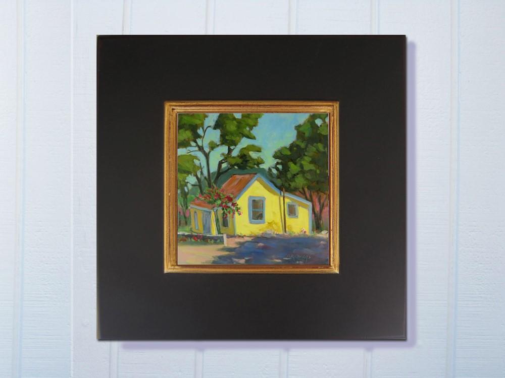 """Yellow House by the Road"" original fine art by Rhett Regina Owings"