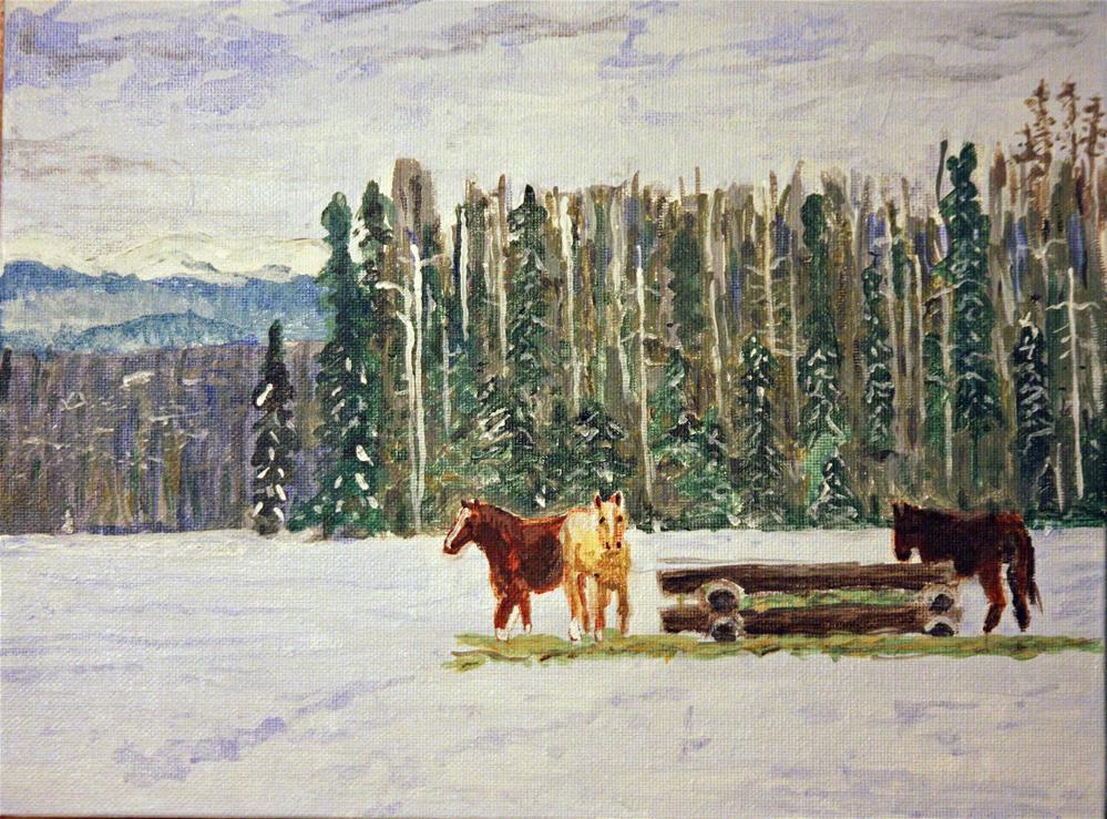 """Sunday Brunch"" original fine art by Terri-Anne Barge"