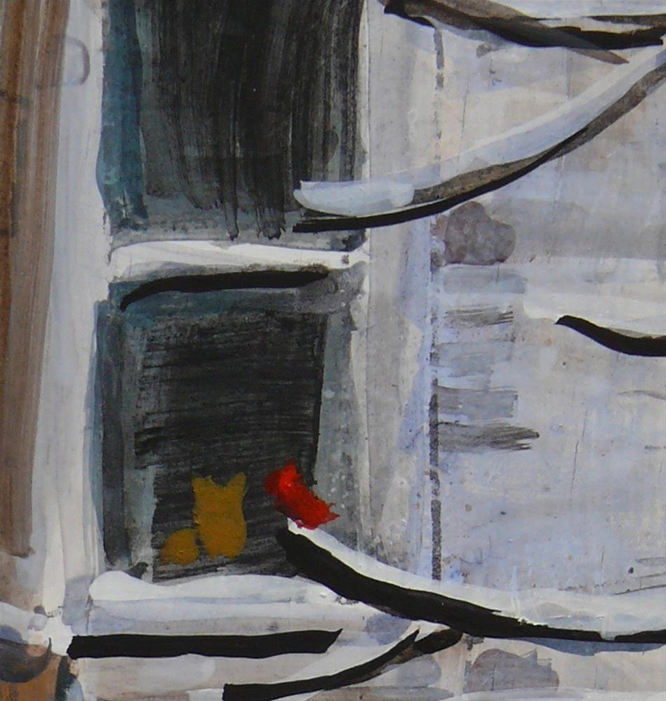 """1150 Lane in the McGill Ghetto, 8x10, egg tempera"" original fine art by Darlene Young"