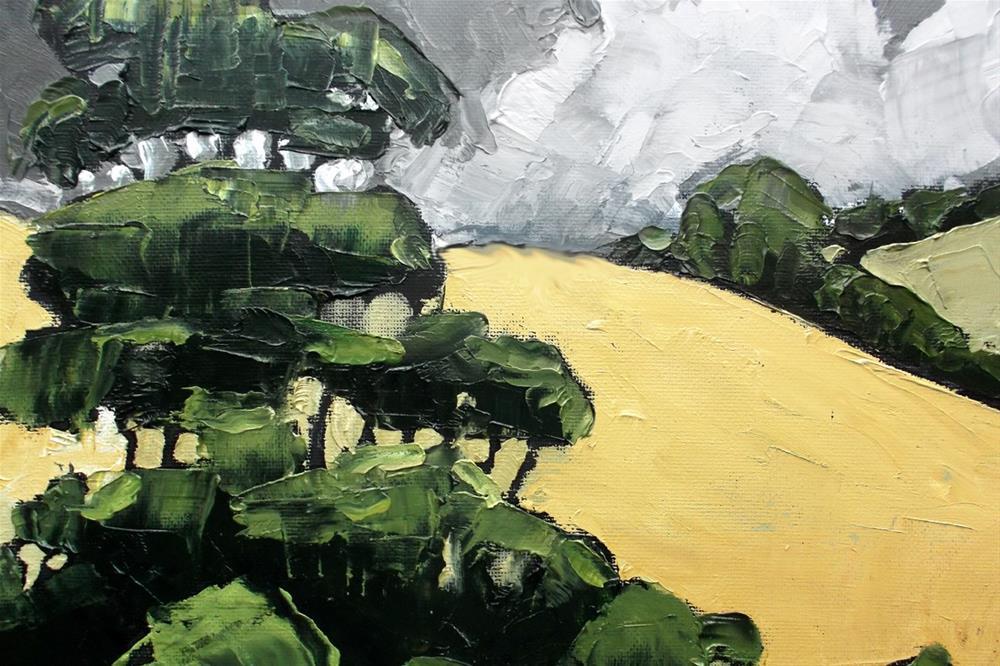 """California Hills & Eucalyptus"" original fine art by lynne french"
