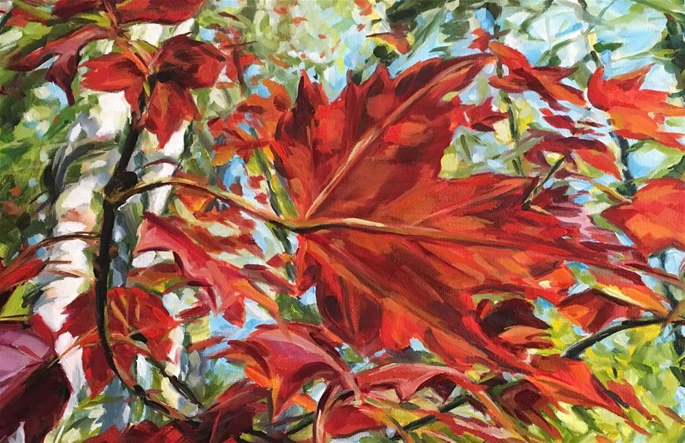 """Red Maple"" original fine art by Tamanda Elia"