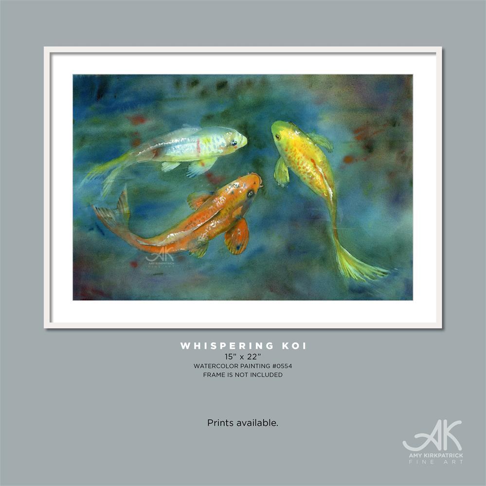 """WHISPERING KOI #0554"" original fine art by Amy Kirkpatrick"